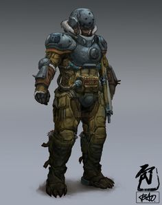 ArtStation - Breaker Blue: Mercenary, William Bao
