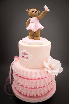 Beautiful little girls ballerina cake