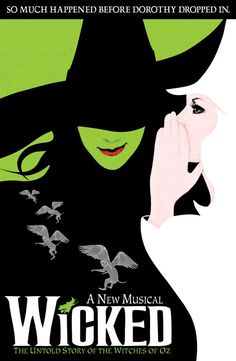 Wicked's broadway poster.