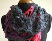 Open Lace Crochet Scarf by CMbeatknit on etsy