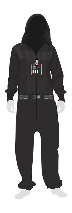 A themed Star Wars onesie for adults, this adult Darth Vader onesie makes a perfect gift for any Star Wars fan