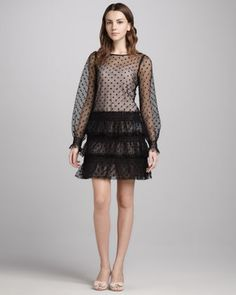 Swiss Dot Tulle Dress by RED Valentino at Neiman Marcus.