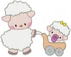 MOM AND BABY SHEEP