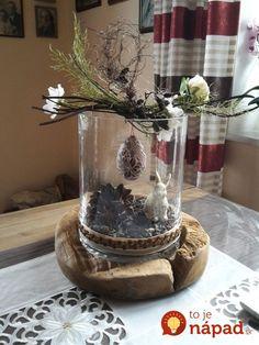 Teak wood bowl with glass insert & Holzfüchse GbR # Dekofrühling Teakh& Easter Crafts, Holiday Crafts, Holiday Decor, Deco Floral, Wood Bowls, Easter Wreaths, Flower Arrangements, Moss Wreath, Feta Dip