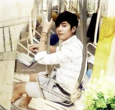 """Kim KyuJong pub card for album """"Meet me agaib"""" was released before he went the army"""