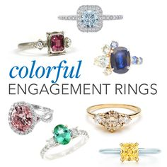 """""""71 Engagement Rings With Colorful Stones"""" -- Click through for a trend, but more, simply gorgeous rings."""