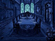 fantasy bedroom rooms gothic collage wall artwork