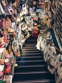 Shimokitazawa, Setagaya, Tokyo, Japan: This rabbit hole aptly named The Exciting Bookstore. Tokyo Travel, Tokyo Trip, Japan Trip, Tokyo Neighborhoods, Shimokitazawa, Go To Japan, November 2015, Rabbit Hole, Japan Fashion