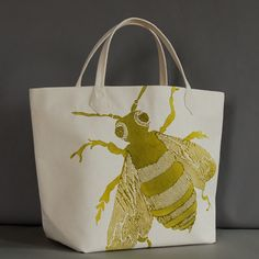 Bee Ochre Canvas Bag: The Southern Home featuring French Country & Shabby Chic Home Decor