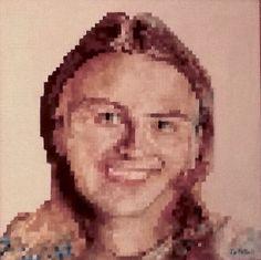 Effetto pixel  Di Umberto De Mattia olio su tela
