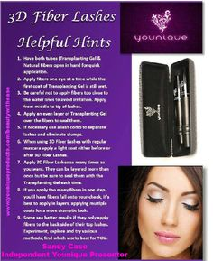 Younique Helpful Hints for Younique 3D lashes.  These helpful tips will make applying our Fiber Lashes easier for anyone that wants to apply them and be sure to check out our beauty supplies for additional applicators.