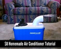 $8 Homemade Air Conditioner Tutorial