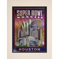 "Fanatics Authentic 2004 Patriots vs. Panthers 10.5"" x 14"" Matted Super Bowl XXXVIII Program - $29.99"
