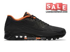 NIKE AIR MAX 90 ULTRA MOIRE FB - CHAUSSURE NIKE SPORTSWEAR PAS CHER POUR HOMME Noir/Anthracite/Cramoisi total/Noir 820277-001
