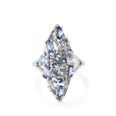 An adorable Ring from the Annabella collection, made of Sterling Silver featuring 2.56cts of amazing Bi-Colour Tanzanite and White Topaz.