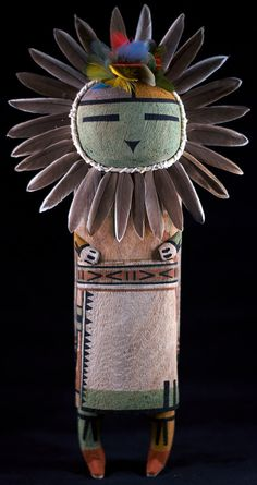 Sun Kachina The Sun Kachina, he is rarely seen on the Hopi mesas, but when appears, he sings his song of his travels. He is the bringer of light and warmth to the Hopi people.