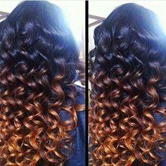 Ombre wand curl Love Hair, Gorgeous Hair, Beautiful, Weave Hairstyles, Pretty Hairstyles, Hairstyle Ideas, Look 2015, Hair Laid, Brazilian Hair