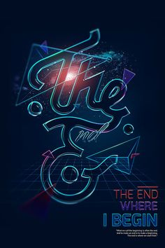 The End Art Works by Tung Shark - #typography #type