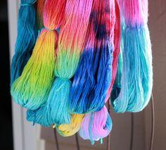 I love to dye yarn @Kate Stubenvoll