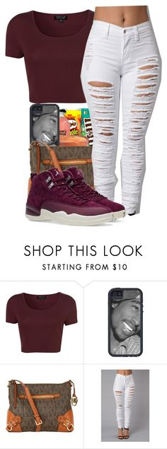 """""""I Got The Feelin He Want, He Got That I Need~Star"""" by her-niya on Polyvore featuring Topshop, Michael Kors and NIKE"""