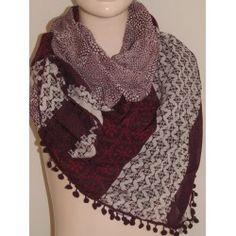 Tom Tailor šátek vínový univerzální; scarf Toms, Fashion, Moda, Fashion Styles, Fasion