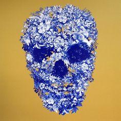 Jacky Tsai Working on the Giant Skull - Blog - Jacky Tsai