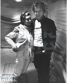 Han Solo (Harrison Ford) & Princess Leia (Carrie Fisher) gloss photo printed on Kodak paper Star Wars Film, Han Star Wars, Star Wars Cast, Star Trek, Harrison Ford, Carrie Fisher, Frances Fisher, Saga, Han And Leia