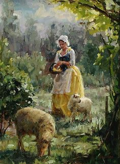 Watts Atelier of the Arts. Shepherdess. Enjoyed by www.mygrowingtraditions.com
