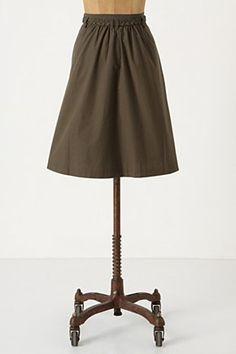 Back shot Plait & pleat skirt