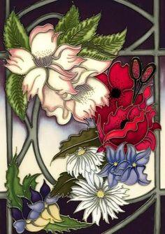 VICKY LOVATT Lovely Flower Stained Glass Windows