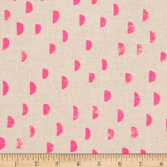 $9.98/yd Cotton + Steel Printshop Moons Pink from @fabricdotcom  Designed by Alexia Marcelle Abegg for Cotton + Steel, this cotton print is perfect for quilting, apparel and home decor accents. Colors include neutral and neon pink.