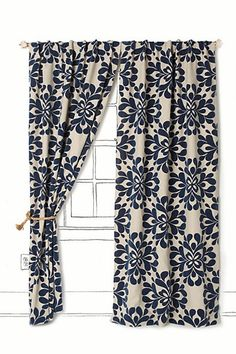 Coqo Floral Curtain from anthropologie #canadianmortgagesinc