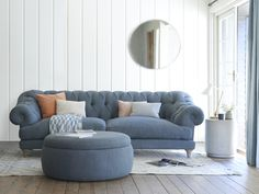 """""""Bagsie one of these!"""" we all cried when we made the first one. Our very own version of the classic chesterfield, this deep-buttoned beauty is one sumptuous sofa. Living Room Grey, Living Room Sofa, Home And Living, Living Room Decor, Bedroom Decor, Modern Living, Sofa Design, Interior Design Living Room, Living Room Designs"""