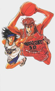"Takehiko Inoue / 井上雄彦 — ( 1990 – 1996 ) ""Slam Dunk"" / ""スラムダンク"" Illustration […"