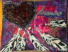 "The Gypsy Owl Art Co.: ""Dreamer"" an Art Journal Page"