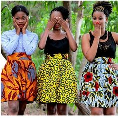 All things Ankara: Skater skirts