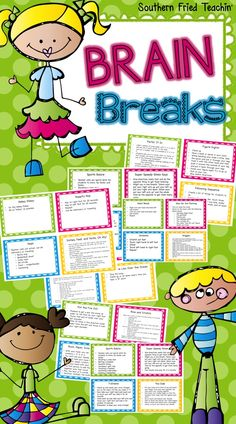 Brain Breaks by Teachers Pay Teachers. This one cost around $5 but totally worth it. Great ideas to get kids up and moving.