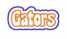 Gators Double Applique Embroidery Design by BabyLoveEmbroidery