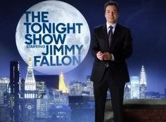 The Tonight Show Starring Jimmy Fallon. So excited! Not gonna lie I got a little choked up on his last show of Late Night last night. He really deserves this more than anyone.