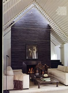 Small Dining Room With Rustic Wood Slat Wall Wall Mounted