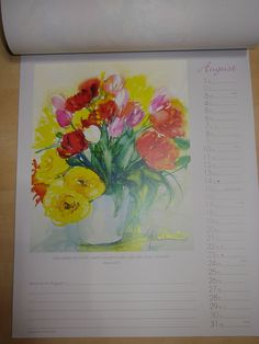 Wandkalender 2015 Maler - Kalender viele Aquarelle Blumenkalender