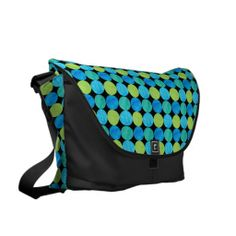Custom Messenger Bag, Blue, Green Circles Pattern: up to £121.00 - http://www.zazzle.co.uk/custom_messenger_bag_blue_green_circles_pattern-210943702437894428?rf=238041988035411422