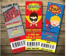 Super hero birthday invitation by kaynesPartyCreations on Etsy, $10.00