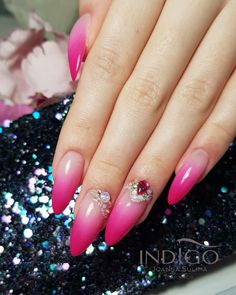 Ombre Style, Nails, Beauty, Finger Nails, Ongles, Nail, Beauty Illustration, Manicures