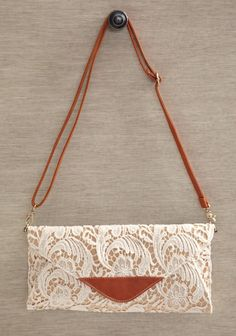 for wedding day.    Graceful Sensibility Lace Clutch