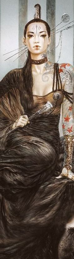 f Rogue Assassin Asian Faction ♪ Arte de Luis Royo Fantasy Anime, Chica Fantasy, 3d Fantasy, Fantasy Kunst, Fantasy Girl, Warrior Princess, Fantasy Characters, Female Characters, Character Inspiration