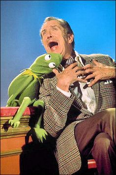 "Vincent Price And Kermit The Frog ""The Muppet Show"" (1976)"