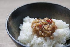 「那須和牛ぶっかけ生姜」 細かく刻まれた那須和牛と刻み生姜がたれになじんでごはんにのせるには間違いのない味。