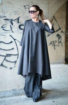 Items similar to Clothing Autumn Oversized Long Kaftans Tops, Cold Wool Loose Kaftan, Extravagant Long Maxi Dress, Plus Size Clothing - on Etsy Abaya Fashion, Muslim Fashion, Fashion Dresses, Dress Shirts For Women, Blouses For Women, Plus Size Maxi Dresses, Plus Size Outfits, Modele Hijab, Pakistani Dress Design