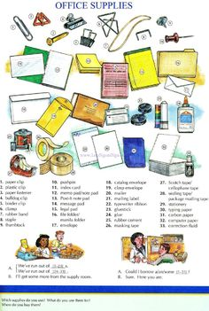 85 - OFFICE SUPPIES - Pictures dictionary - English Study, explanations, free exercises, speaking, listening, grammar lessons, reading, writing, vocabulary, dictionary and teaching materials